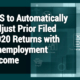 IRS to Automatically Adjust Prior Filed 2020 Returns with Unemployment Income